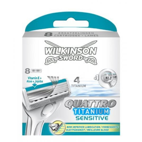 Wilkinson Sword Quattro Titanium sensitive сменные лезвия 8 шт.