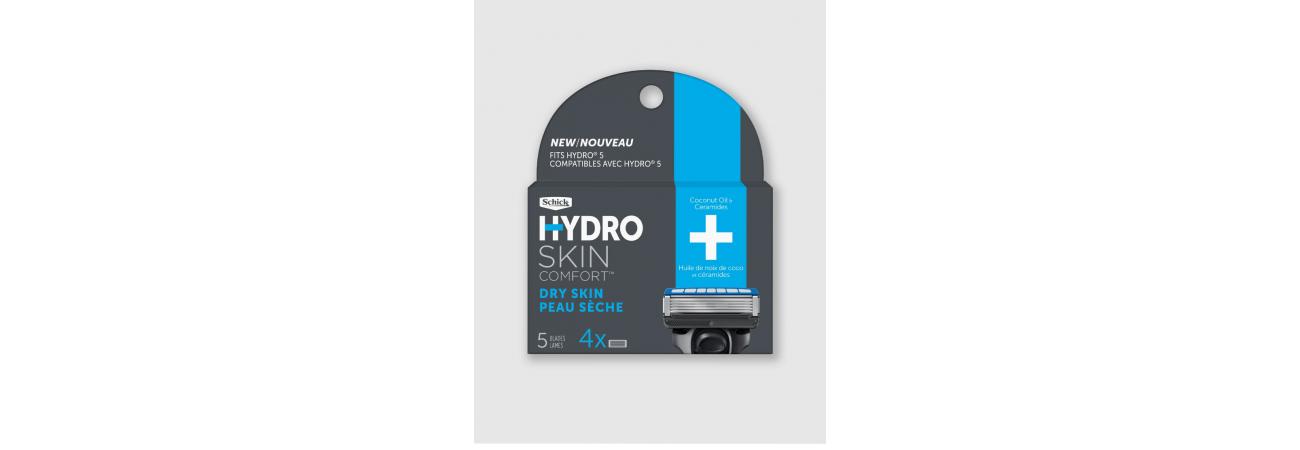 Сменные лезвия Schick Hydro 5 Dry Skin (4 сменные кассеты)