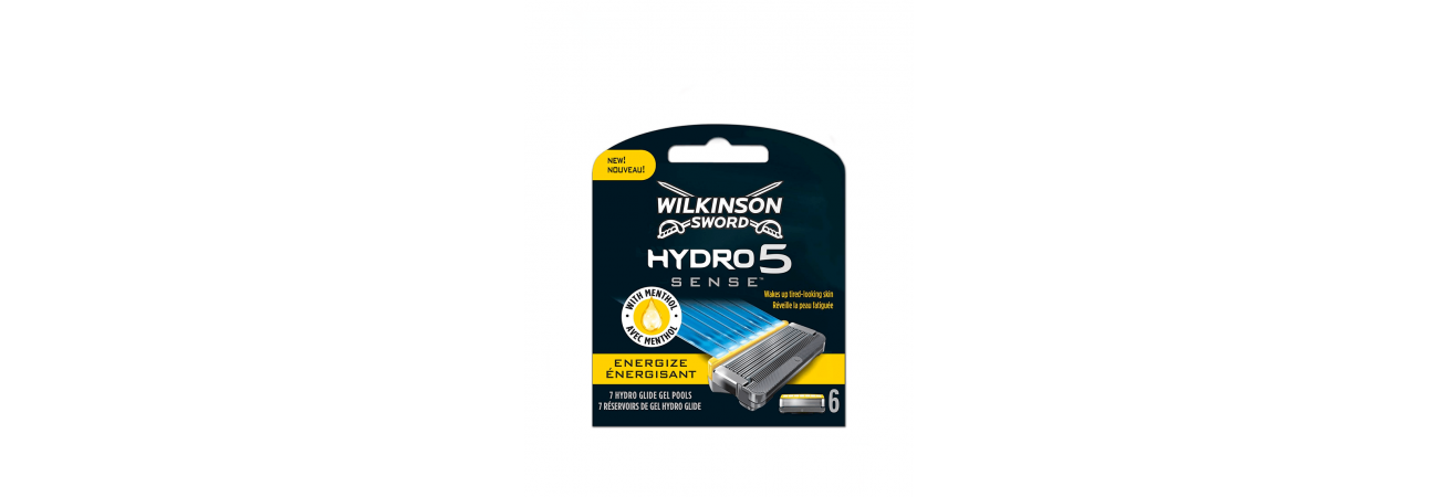 Сменные лезвия Wilkinson Sword Hydro 5 Sense Energize, 6 сменых лезвия