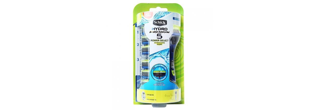 Бритвенный набор Schick Hydro 5 Power Select Premium (+ 7 сменных лезвий)