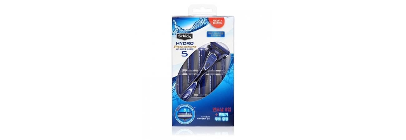 Бритвенный набор Schick Hydro 5 Premium (1 бритва + 8 сменных лезвий)