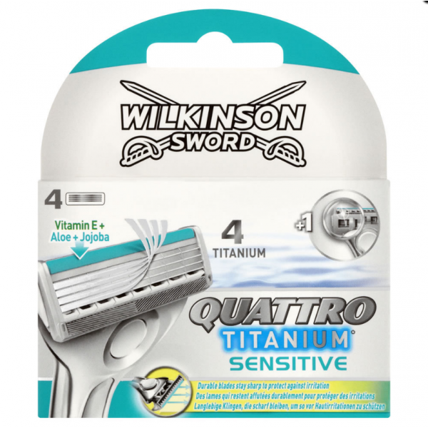 Wilkinson Sword (Schick) Quattro Titanium sensitive сменные лезвия 4 шт.