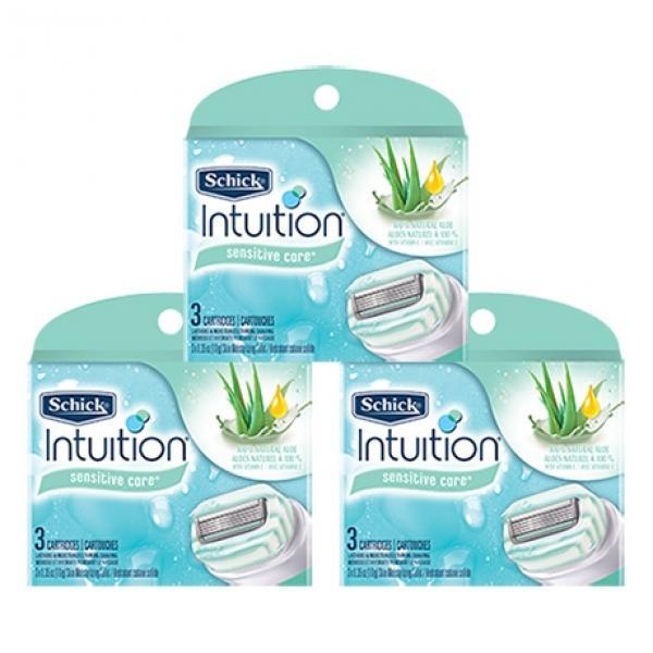 Сменные лезвия Schick Intuition Naturals (9 картриджей)